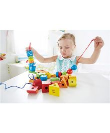 Hape Wooden String Along Shapes - Multi Colour