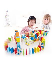 Hape Wooden Dynamo Dominoes - Multi Colour