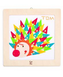 Hape Wooden Frame Happy Hedgehog Embroidery Kit