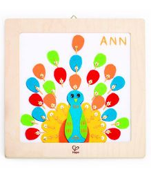 Hape Wooden Frame Proud Peacock Embroidery Kit