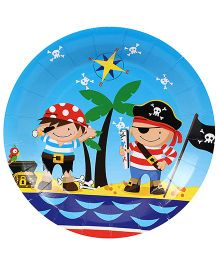 Birthdays & Parties Plates Pirates Theme - 10 Pieces