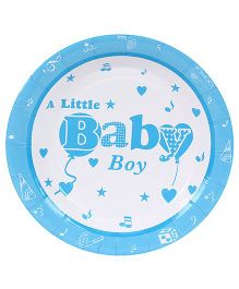 Birthdays & Parties Paper Plates Baby Boy Print - 10 Pieces