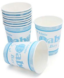 Birthdays & Parties Paper Glass Baby Boy Theme - 10 Pieces