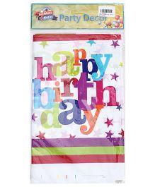 Birthdays & Parties Table Cover Birthday Print - Multi Colour