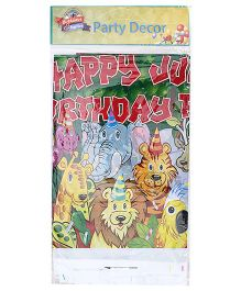 Birthdays & Parties Table Cover Jungle Theme - Multi Colour