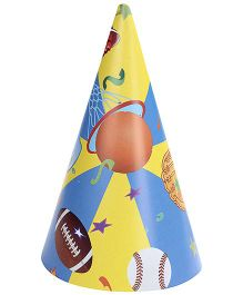 Birthdays & Parties Paper Caps Sports Theme - 10 Pieces