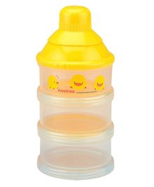 Piyo Piyo Three Layer Milk Powder Dispenser - Yellow