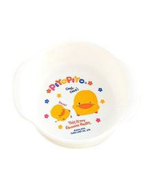 Piyo Piyo Baby Bowl - White And Yellow