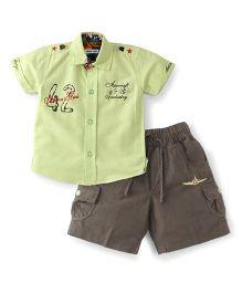 Active Kids Wear Shirt And Pant  Green - 42 Print