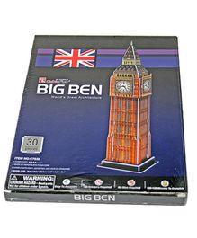 Adraxx Junior 3D Board Big Ben Tower Clock Modeling Kit - 30 Pieces