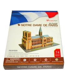 Adraxx Advanced 3D Board Famous Notre Dame Modeling Kit - 74 Pieces