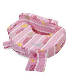 Babyhug Feeding Pillow Animal Print - Pink