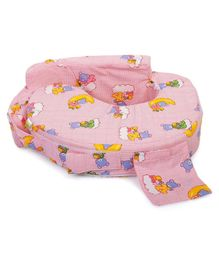 Babyhug Teddy On Clouds Feeding Pillow - Pink