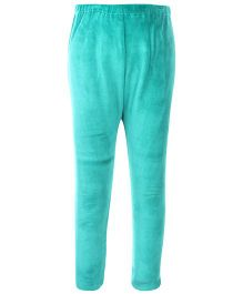 Yellow Duck Solid Color Leggings - Sea Green