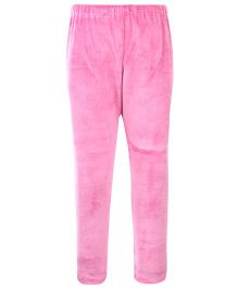 Yellow Duck Solid Color Leggings - Pink