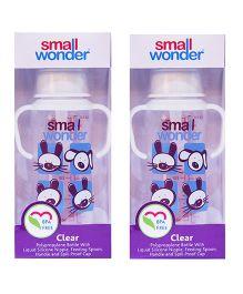 Small Wonder Clear Polypropylene Feeding Bottle Pack Of 2 - 250 ml