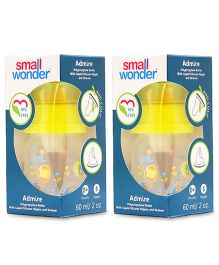 Small Wonder Admire Polypropylene Feeding Bottle Yellow Pack Of 2 - 60 ml