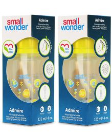Small Wonder Admire  Polypropylene Feeding Bottle Yellow Pack Of 2 - 125 ml