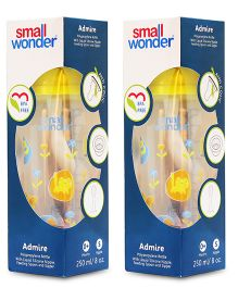 Small Wonder Admire Polycarbonate Feeding Bottle Yellow Pack Of 2 - 250 ml
