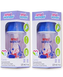 Small Wonder Candy Polypropylene Feeding Bottle Blue Pack Of 2 - 125 ml