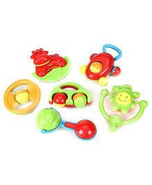 Kumar Toys Baby Rattle Set Of 6 - Multi color