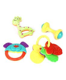 Kumar Toys Baby Rattles Set Pack of 4 - Multi Color