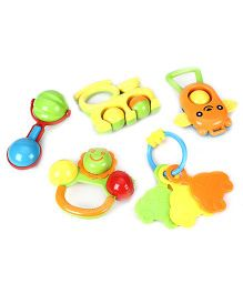 Kumar Toys Baby Rattle Set Of 5 - Multi color