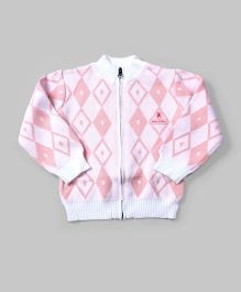 Baby Pink & White Agile Cardigan