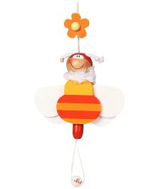 Sevi Jumping Jack Wooden Puppet Bee - Height 14 cm