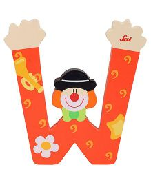 Sevi Wooden Letter Clown Alphabet W - Red