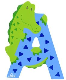 Sevi Wooden Letter Alligator Alphabet A - Assorted Colours