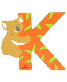 Sevi Wooden Letter Koala Alphabet K - Orange