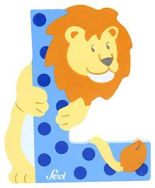 Sevi Wooden Letter Lion Alphabet L - Blue