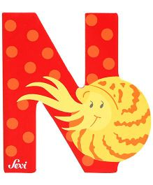 Sevi Wooden Letter Nautilus Alphabet N (Color May Vary)