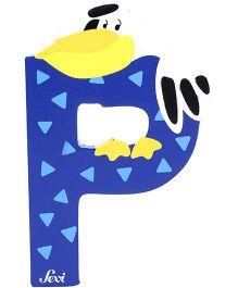 Sevi Wooden Letter Pelican Alphabet P - Blue