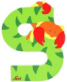Sevi Wooden Letter Scorpion Alphabet S - Green