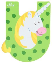 Sevi Wooden Letter Unicorn Alphabet U