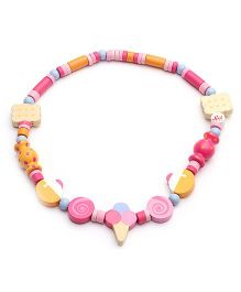 Sevi Wooden Necklace Candy - Multi Colour