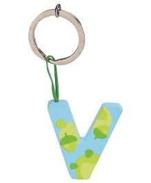 Sevi Key Ring - Wooden Letter V
