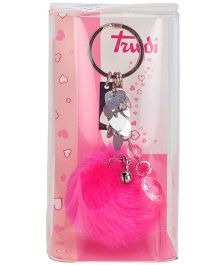 Trudi Key Ring Pompom - Pink