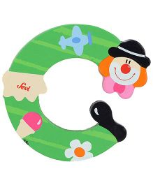 Sevi Wooden Letter Clown Alphabet C - Green