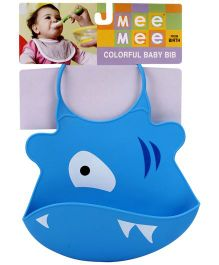 Mee Mee Silicone Baby Bib Animal Shape - Blue