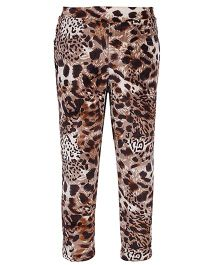 Lemonmint Pull Up Pant - Leopard Print