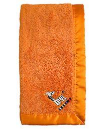 Kushies Baby Blanket Orange - Zebra Patch