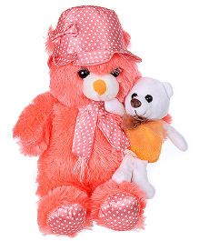 Tickles Mother Teddy With Baby Soft Toy - Height 35 cm