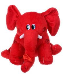 Tickles Elephant Soft Toy Red - Height 23 cm