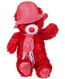 Tickles Teddy Soft Toy With Hat - Red