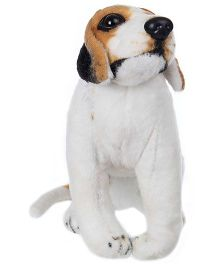 Tickles Sitting Dog Soft Toy - White