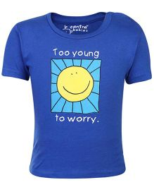 Tantra Half Sleeves T-Shirt - Smiley Print