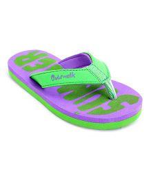 Cute Walk Flip Flops - Purple And Green